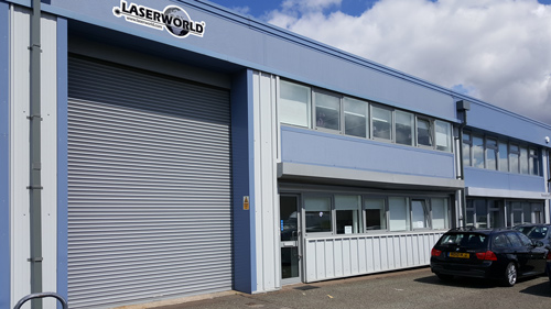 Laserworld UK Office building 500